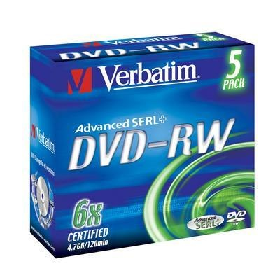 Verbatim DVD-RW 4,7GB 6x jewel case